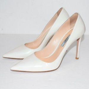Prada Pointy Toe Patent Pump Size 38